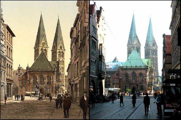 Bremen, Rathaus aus Westen / town hall from the west