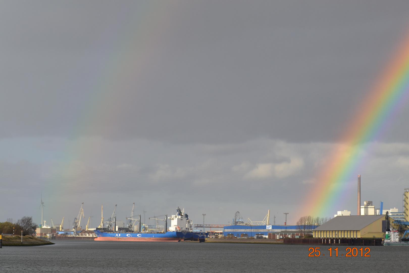 Bremen Überseestadt ein zweiter Regenbogen