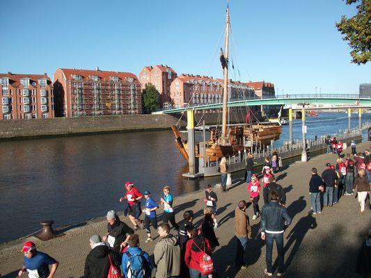 Bremer Marathon 2012 an der Weser