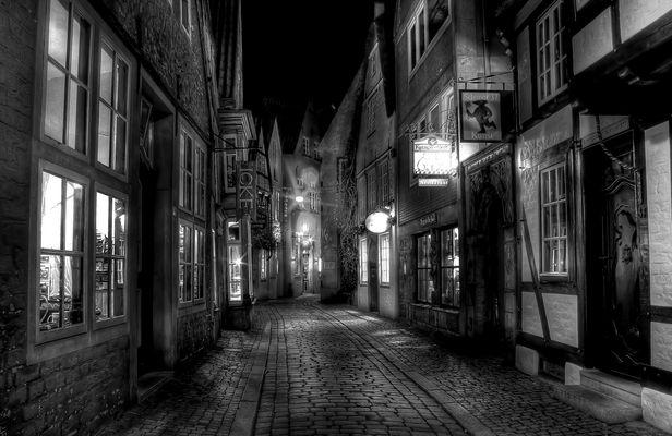 """"""" Bremer Schnoor bei Nacht """""""