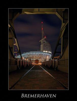 """Bremerhaven """" Hafenwelten bei Nacht**..."""""""
