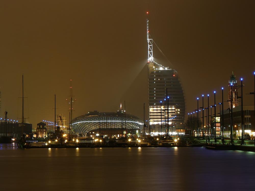 Bremerhaven klimahaus foto bild architektur architektur bei nacht motive bilder auf - Architektur bremerhaven ...