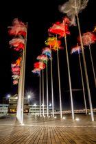 brennende Flaggen...