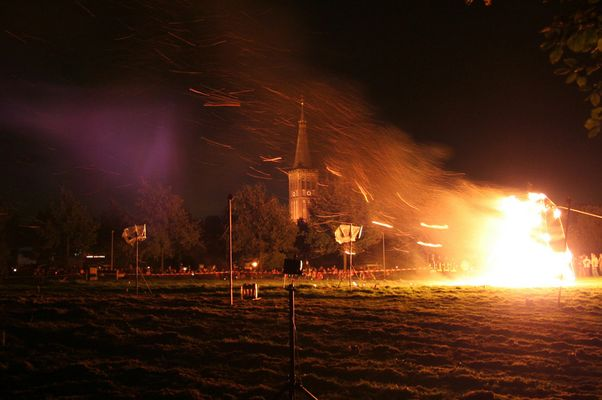 Brennende Mühle in Dülken - St. Martin 2005