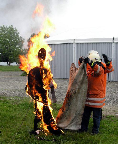 Brennende Person
