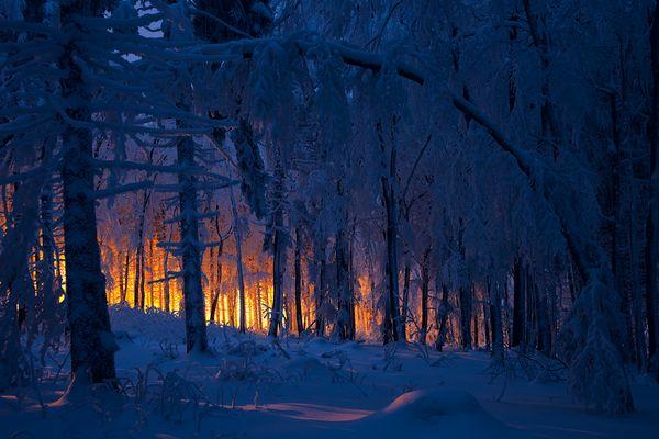 Brennender Frankenwald