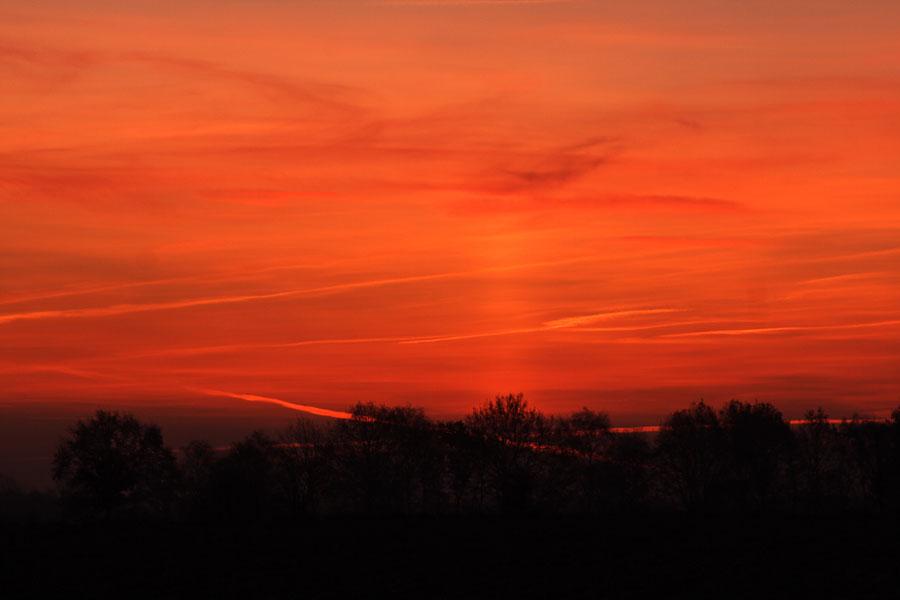 """Brennender Himmel am Morgen"""