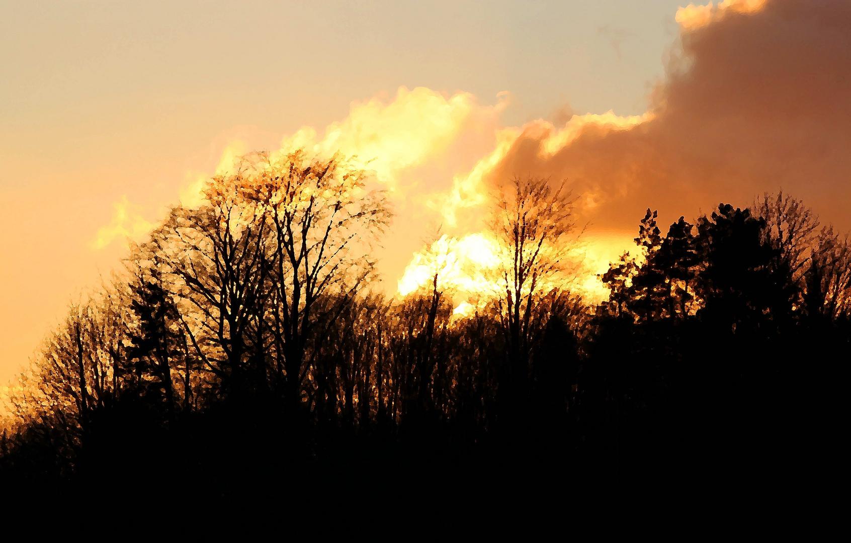 Brennender Horizont
