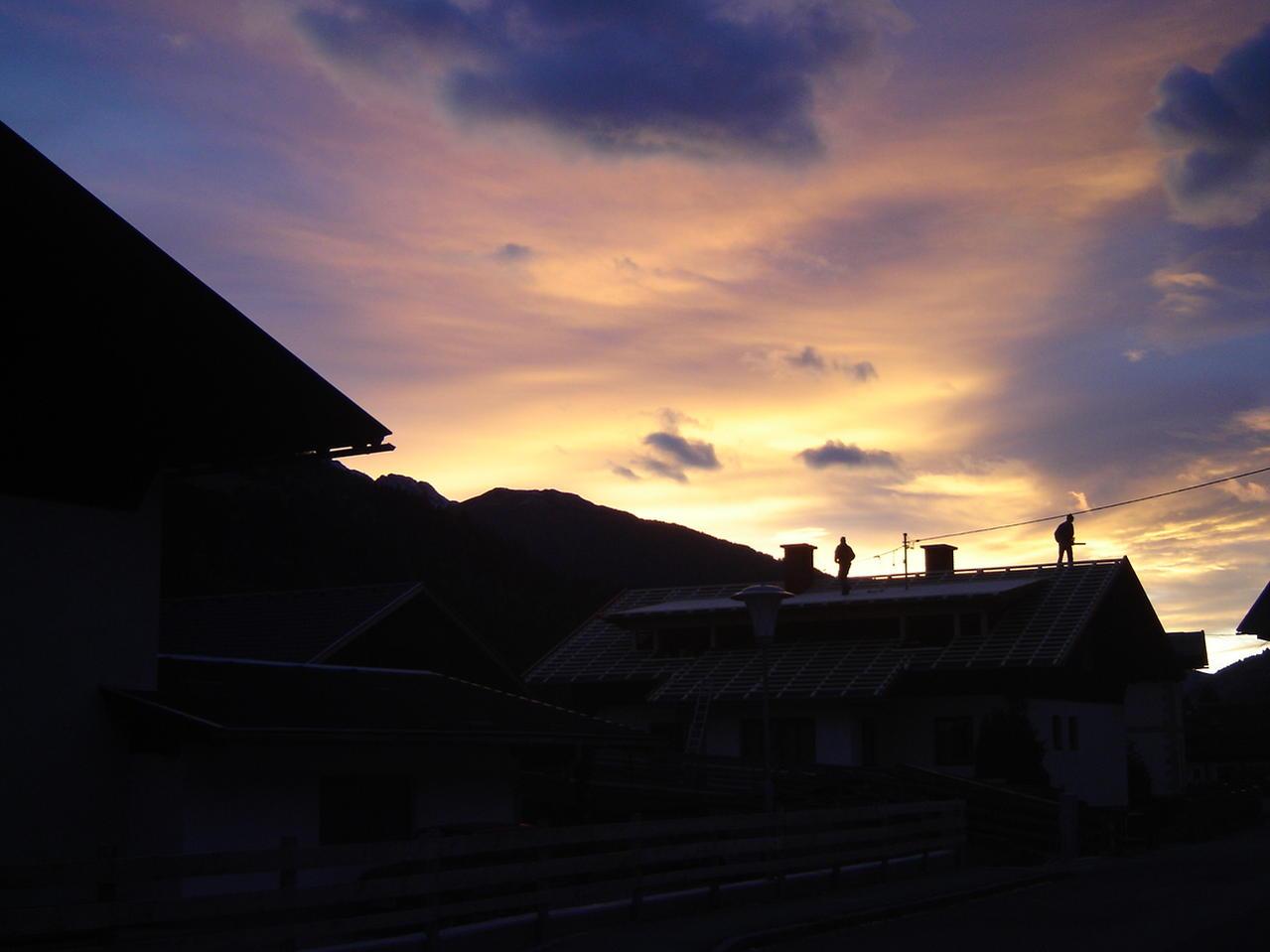 Brennender Sonnenuntergang