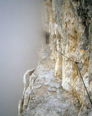 Brenta, Bocchette Centrale im Nebel
