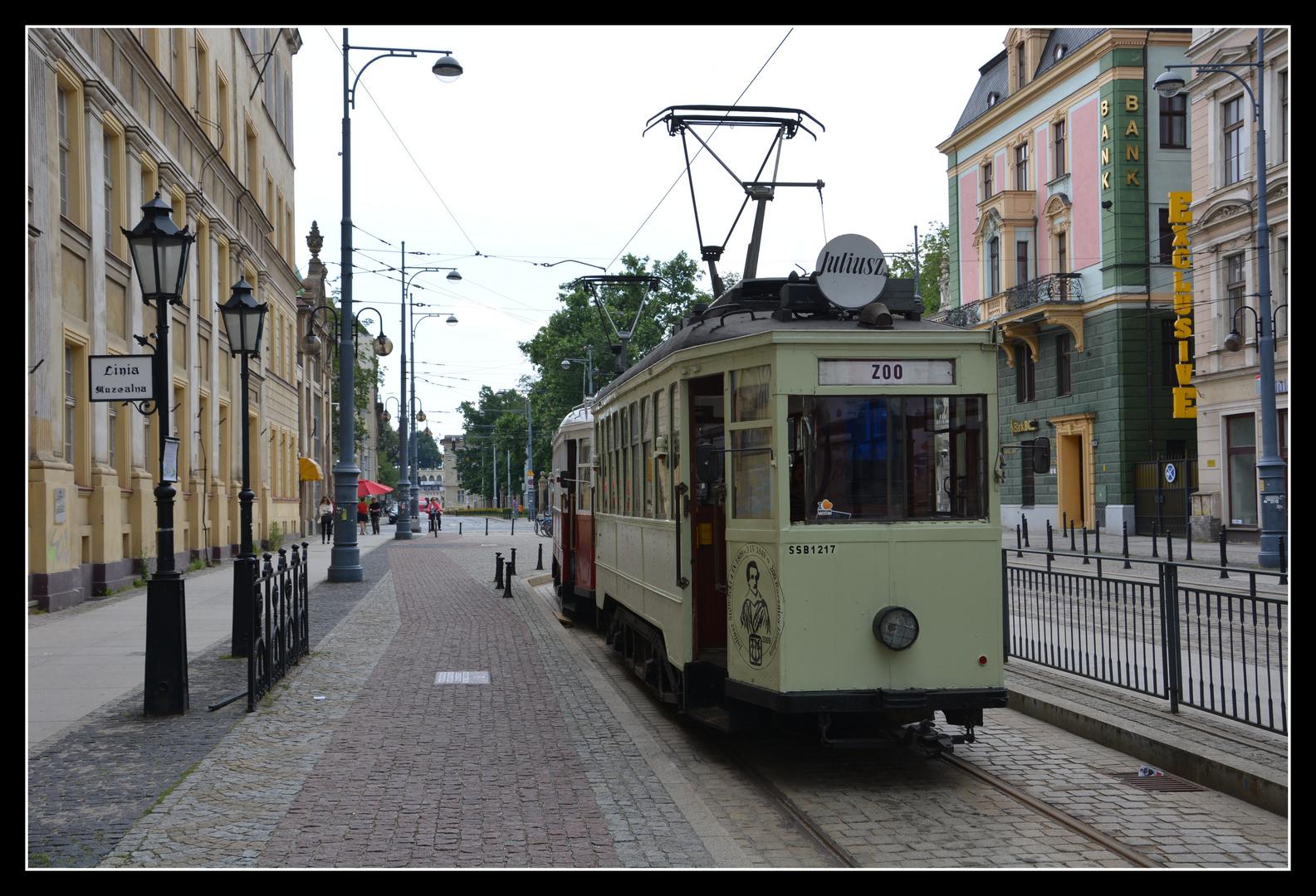 Breslau (Wroclaw) Abfahrstelle für historische Straßenbahnen