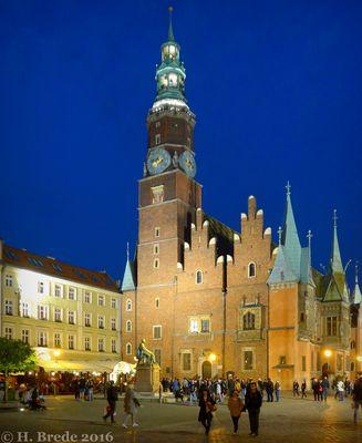 Breslau (Wroclaw) bei Nacht 1