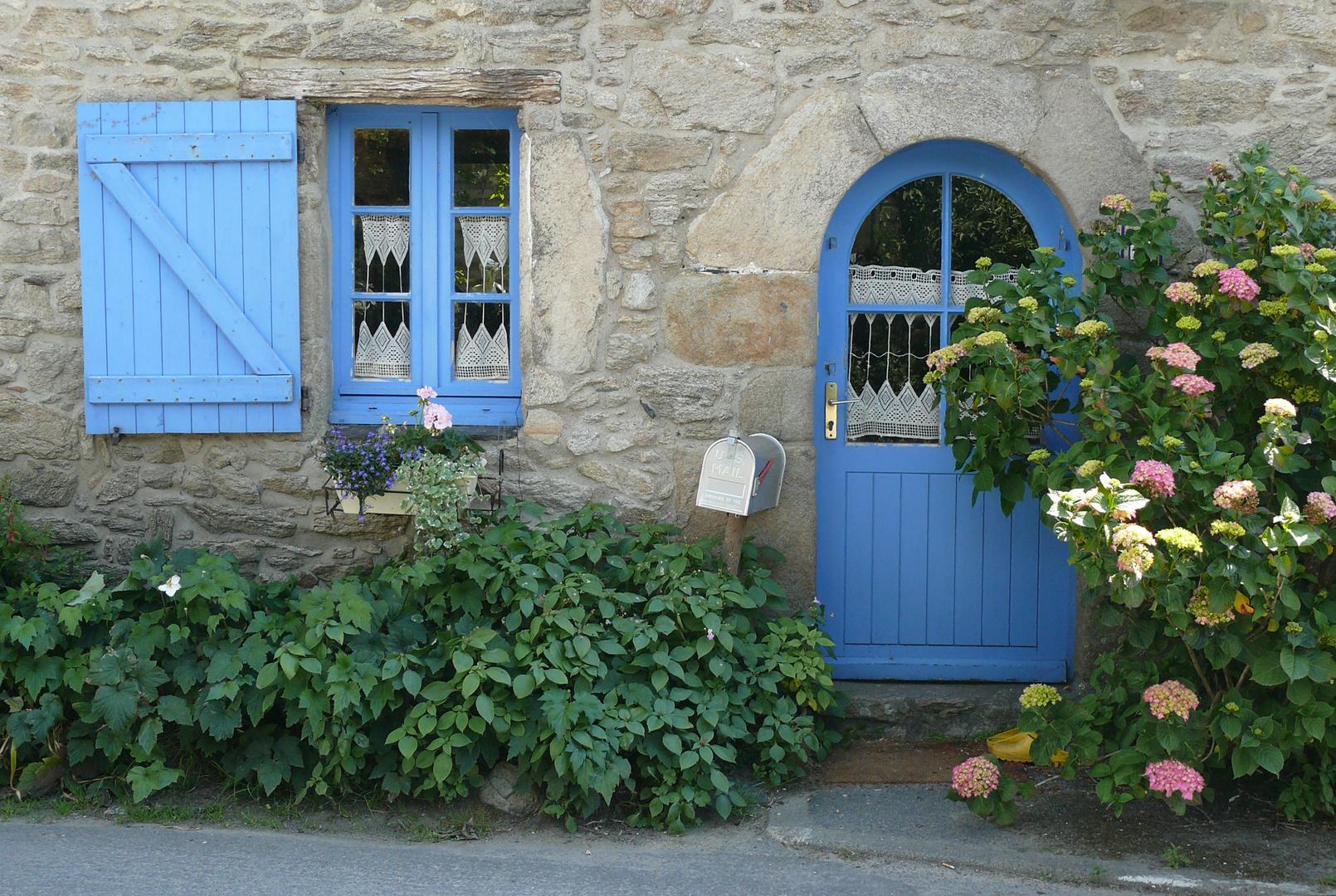 bretonische Hausfassade