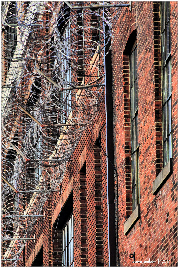 Brick and Barbed Wire - No.1