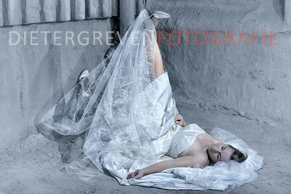 Bride in the dust