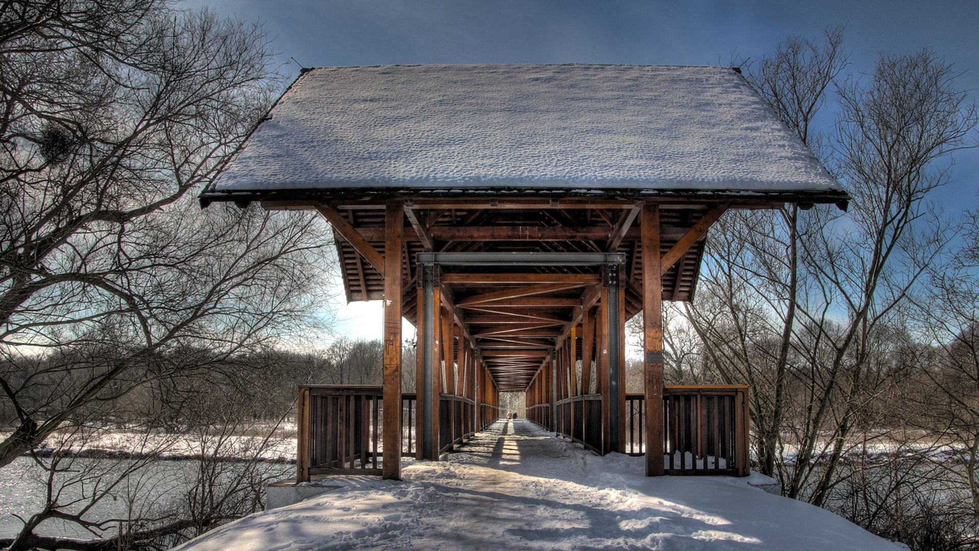 Bridge and Snow