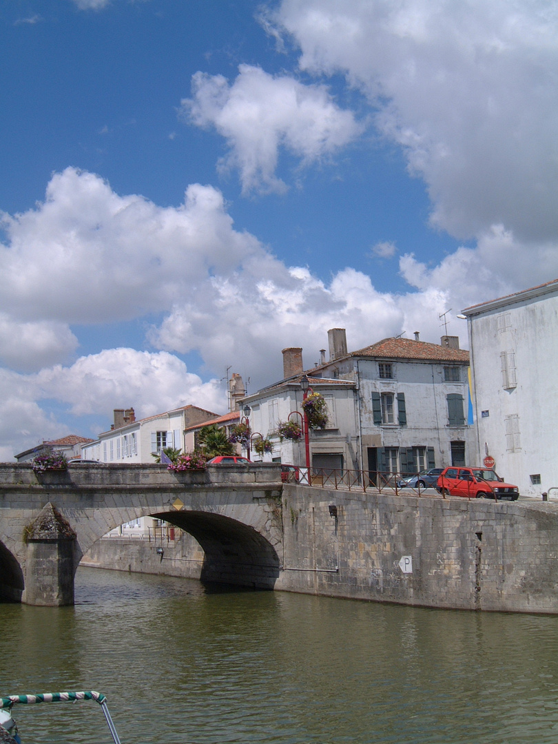 Bridge in Marans near La Rochelle