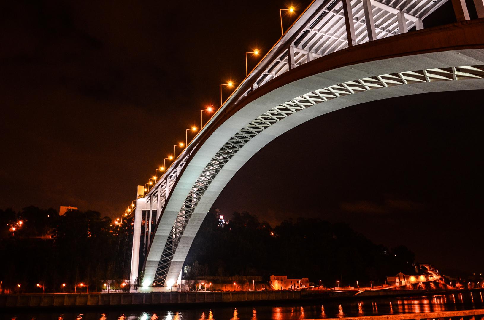 Bridge in Porto by Night