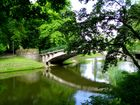 Bridge of lovers in city park