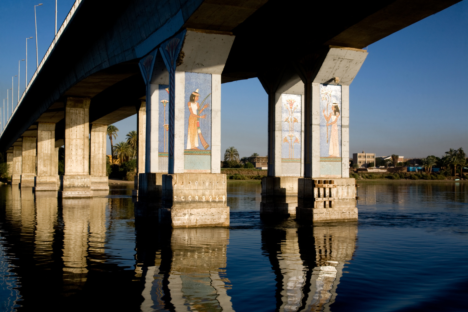 Bridge over troubled water - The Nile near Luxor