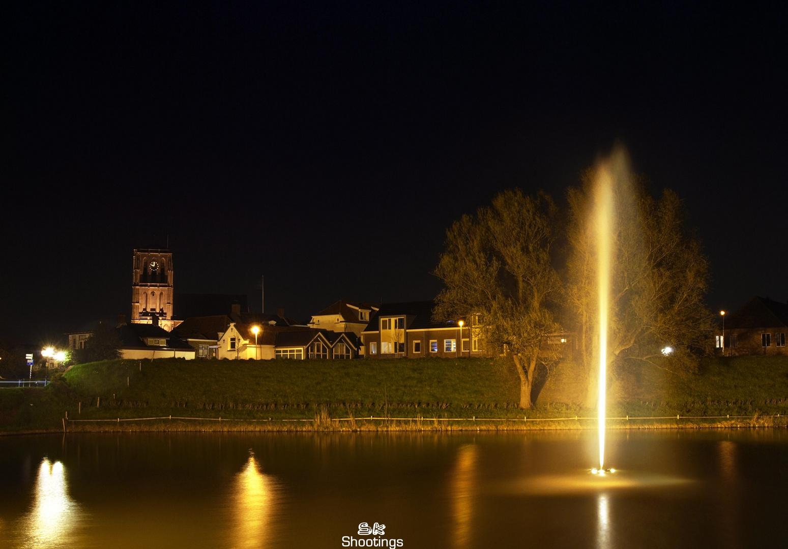 Brielle (NL) bei Nacht