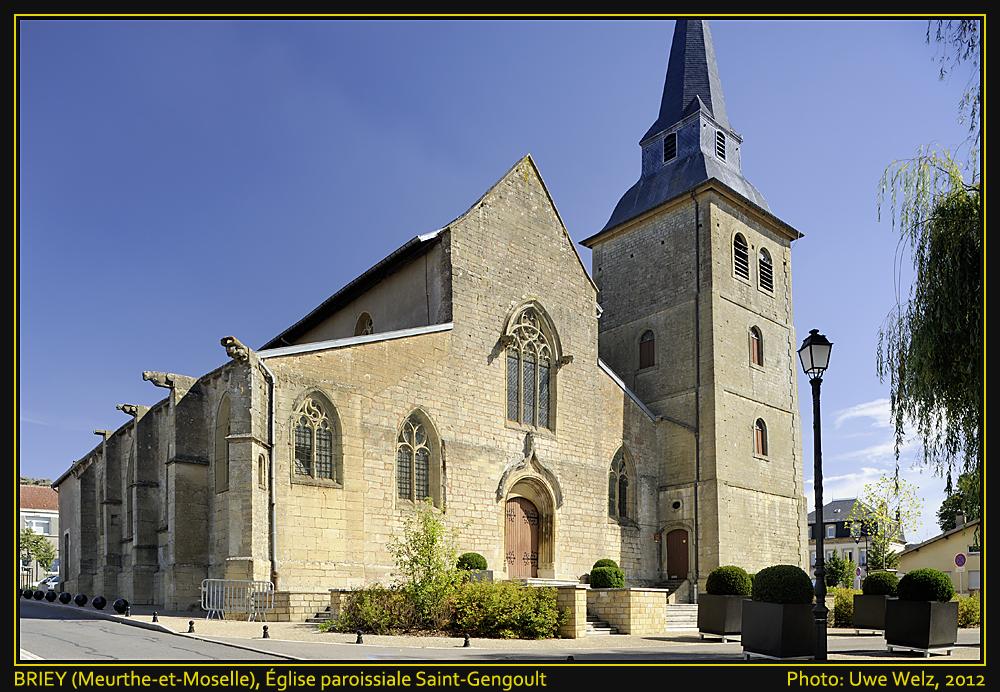 BRIEY (Meurthe-et-Moselle, Lorraine), Katholische Pfarrkirche Saint-Gengoult