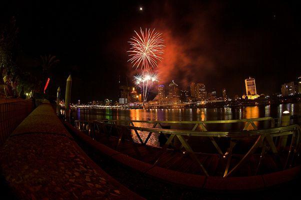 Brisbane - Feuerwerk