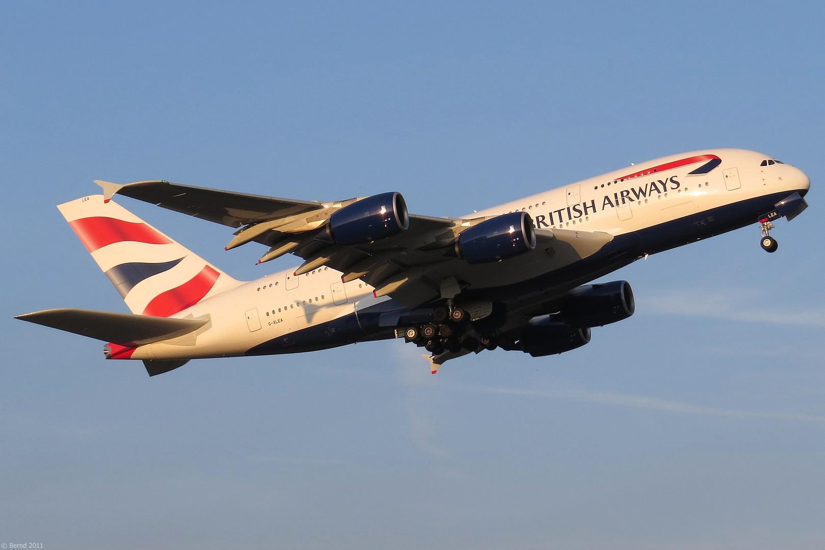 """British Airways - A380-841, """"G-XLEA"""""""