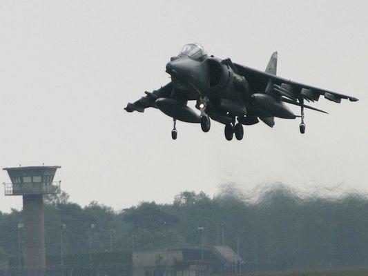 British Harrier Take-Off