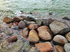 Brocken im Wasser