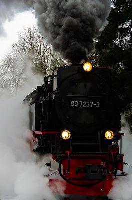Brockenbahn unter Dampf