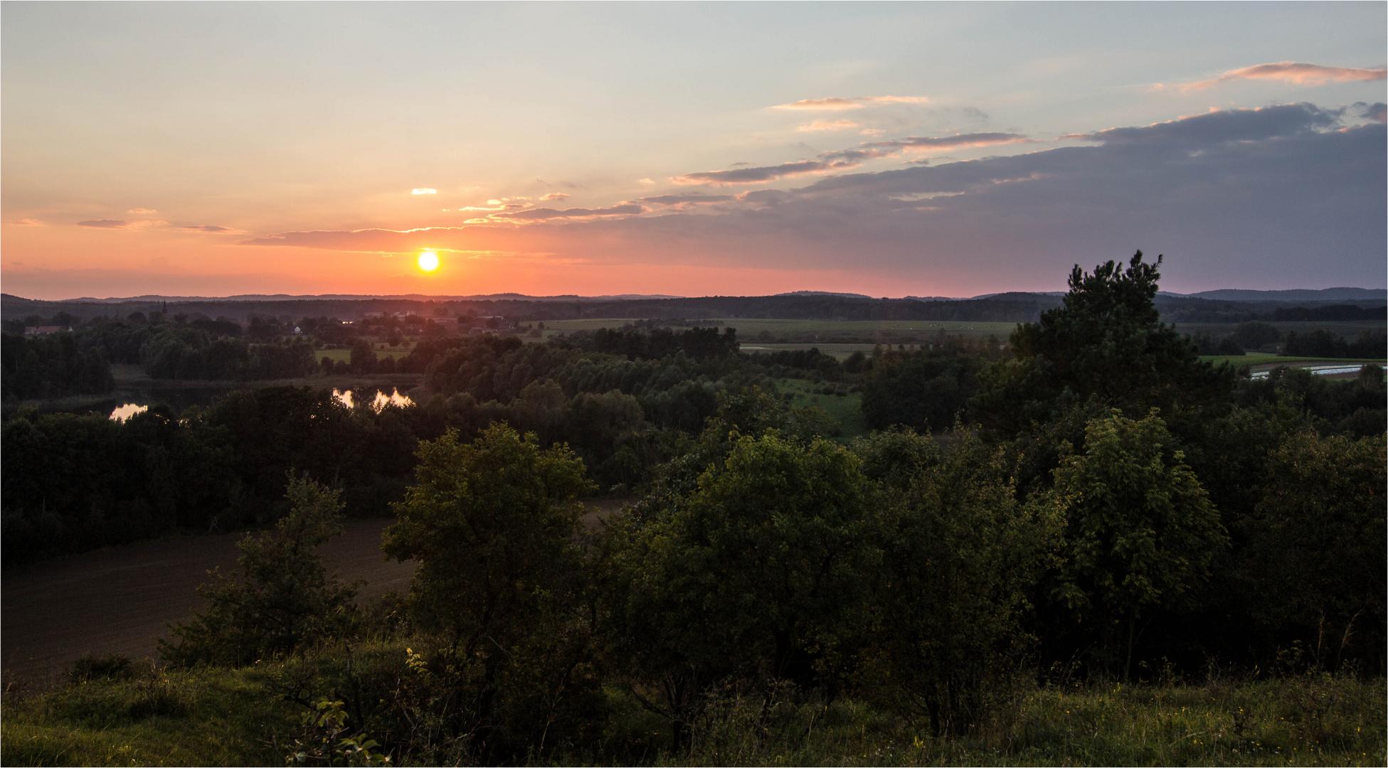 Brodowiner Landschaft am Abend