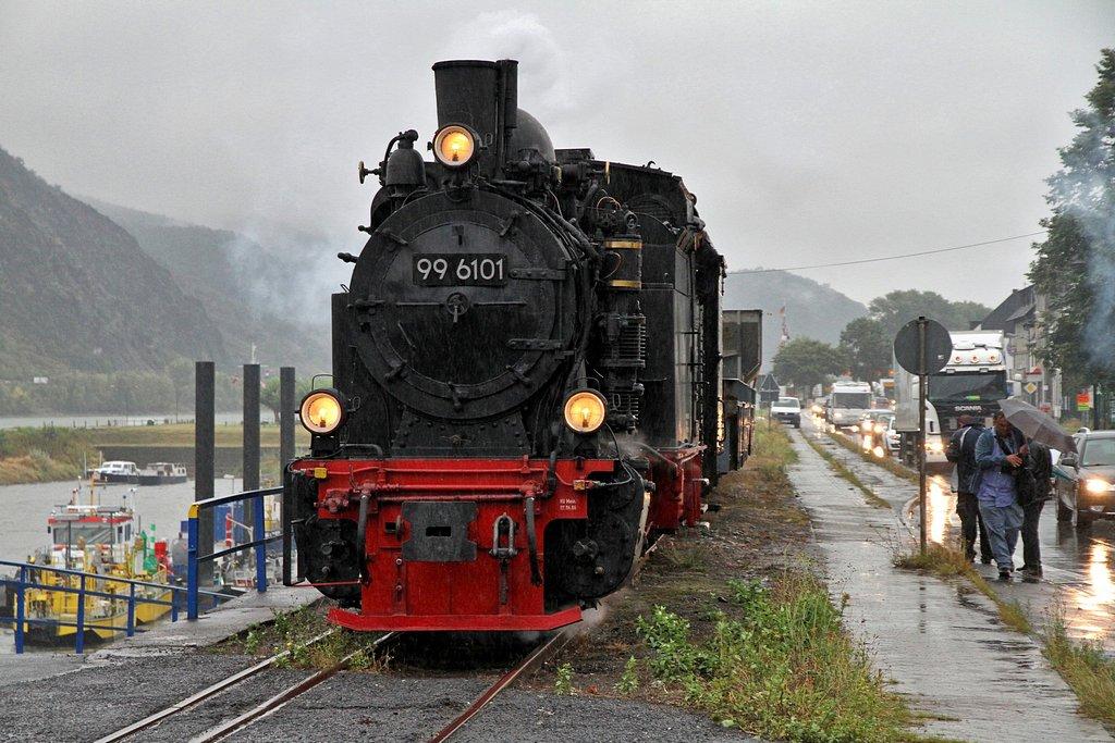 Brohltalbahn Güterdampf mit HSB 99 6101 am 31.08.2012 (Bild 2)