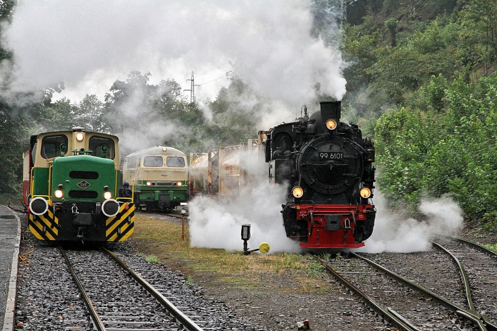 Brohltalbahn Güterdampf mit HSB 99 6101 am 31.08.2012 (Bild 3)
