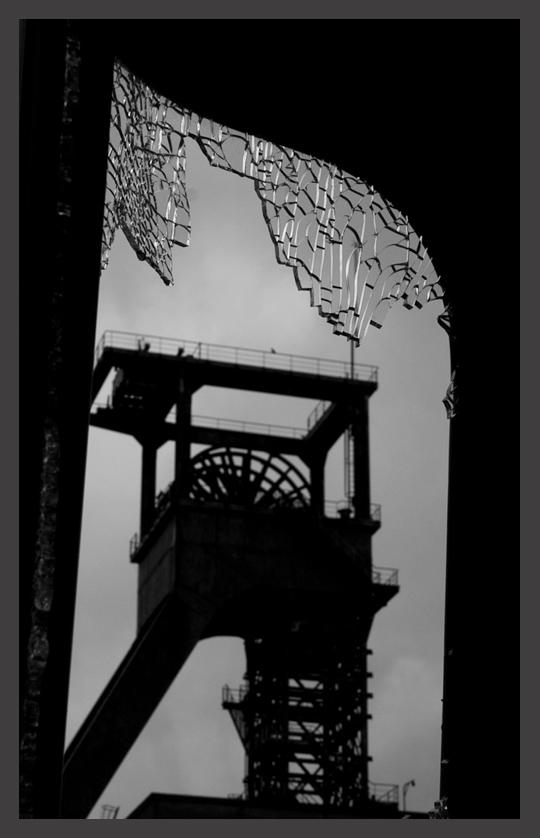 Broken glass tower