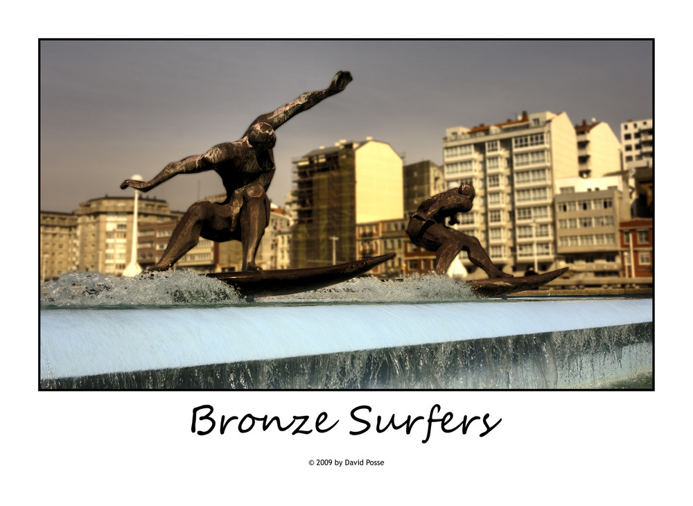 Bronze Surfers