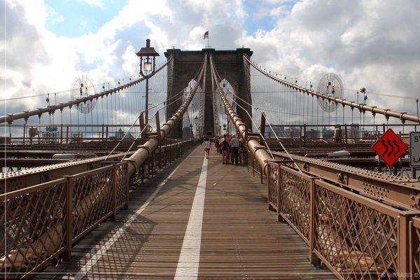 Brooklyn Bridge - Autoroute à Piéton