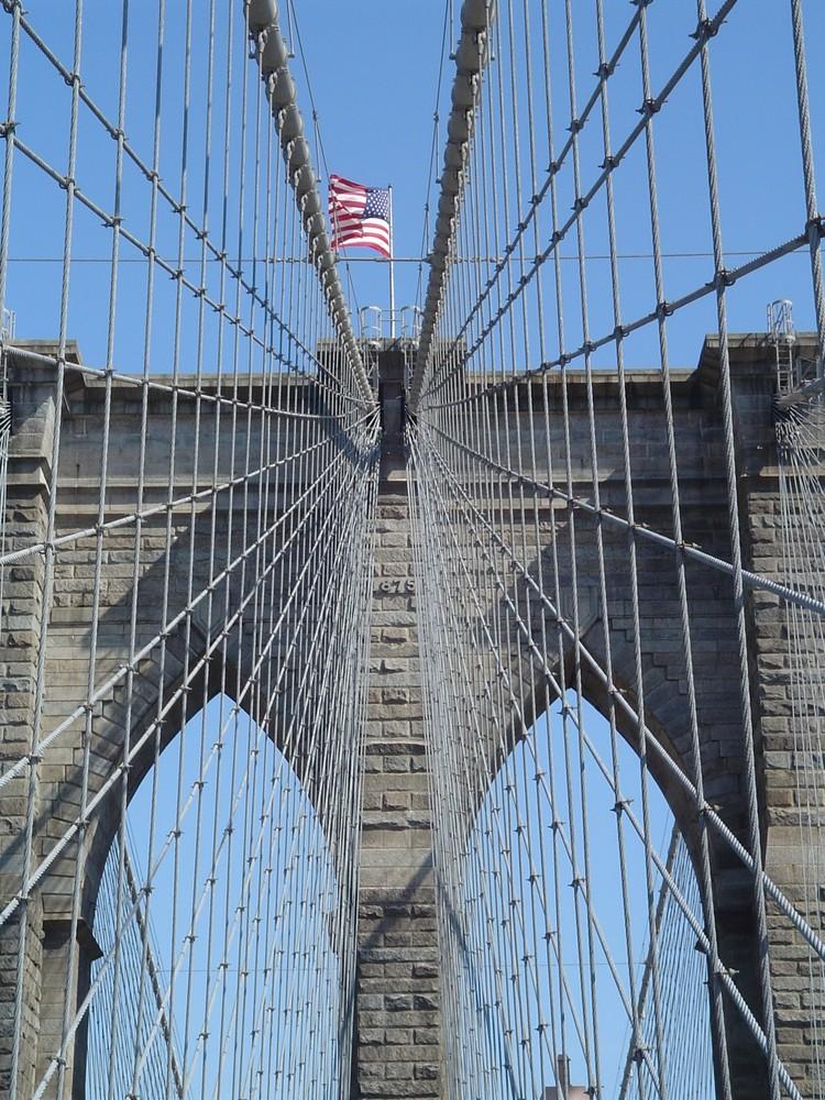 Brooklyn Bridge NYC Steel Stars and Stripes