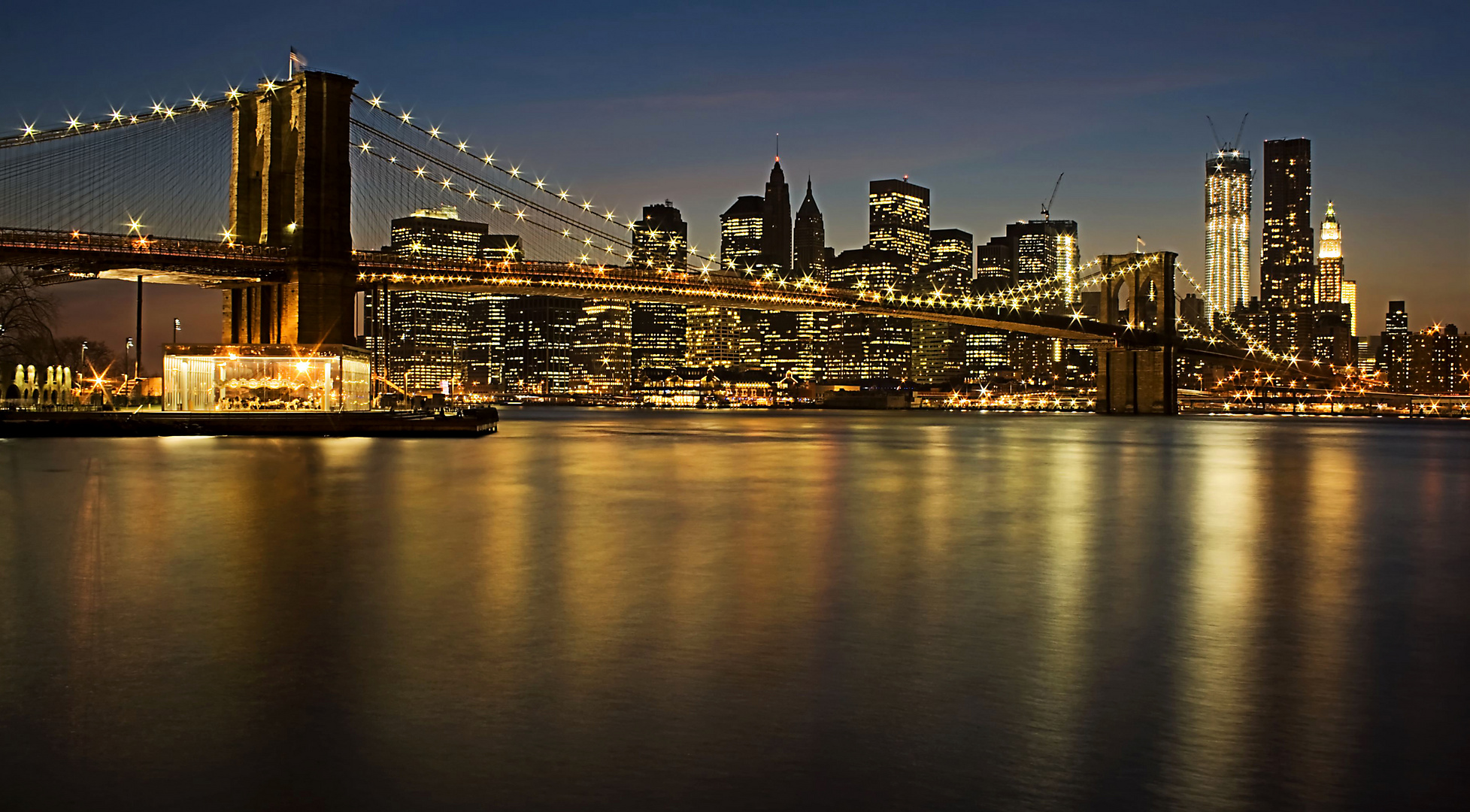 Brooklyn Bridge with Manhattan Skyline