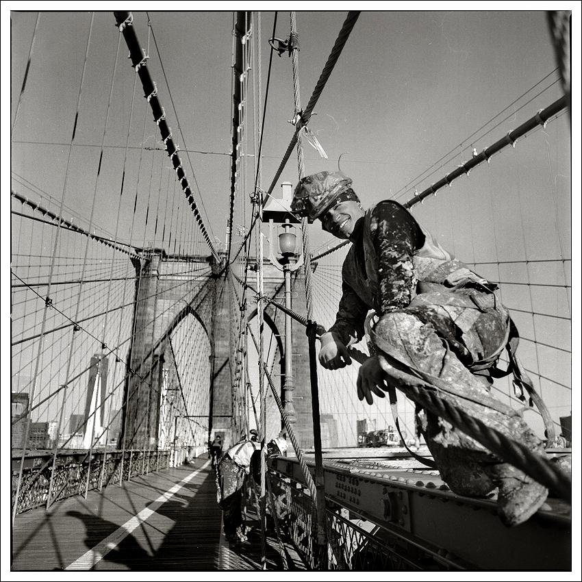 Brooklyn Bridge Worker