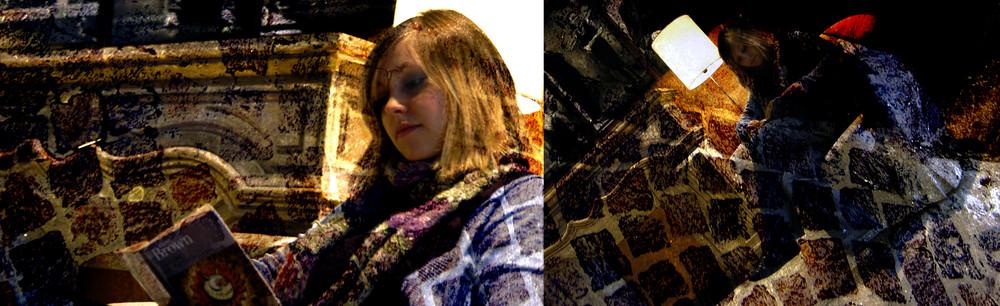 Brown entre les murs du théâtre, la jeune fille au lampadaire, acte en deux scènes