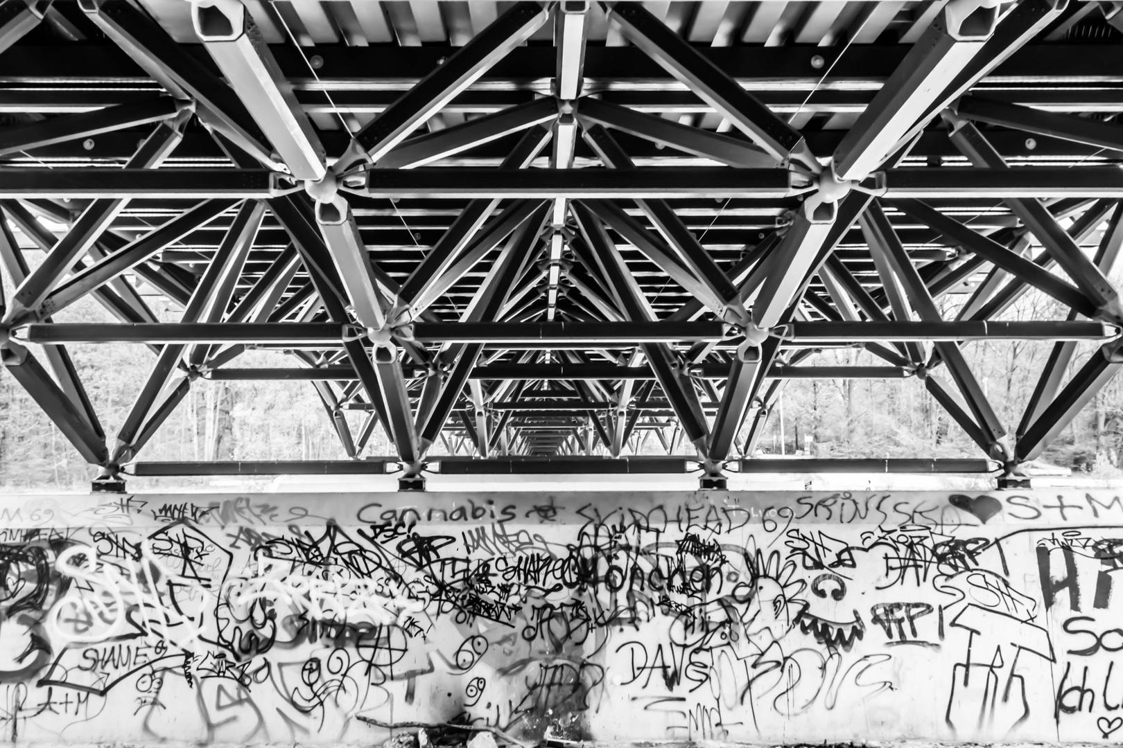 Brücke am Flaucher (Isar/München)