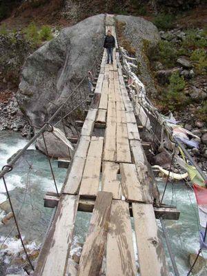 Brücke auf dem Weg nach Namche
