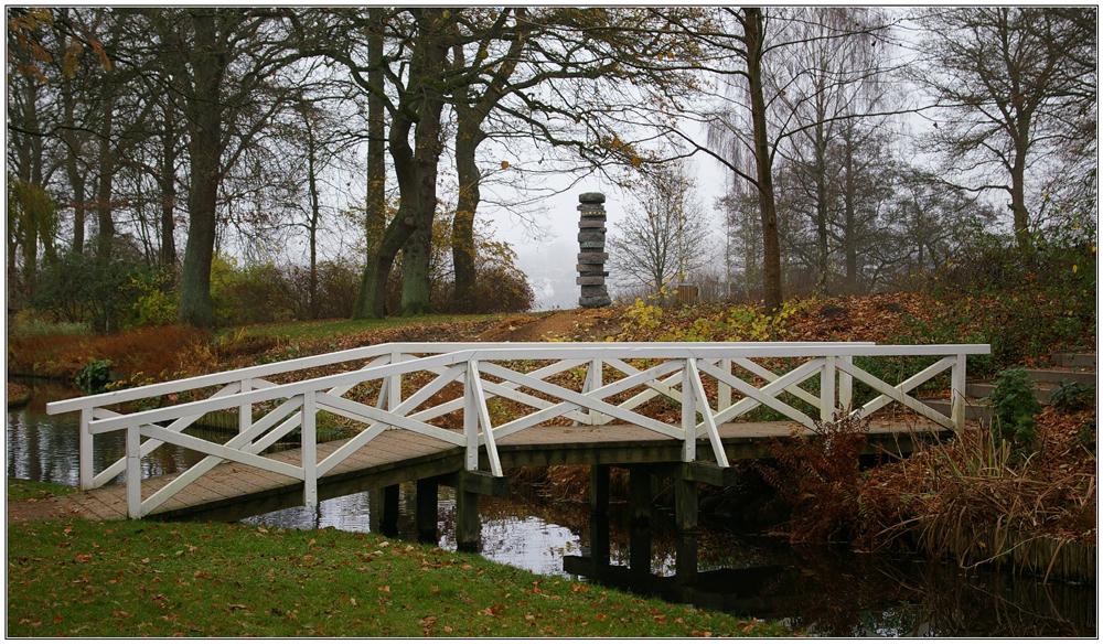 Brücke im Borgvold in Viborg (DK)