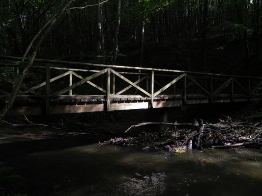 Brücke im Licht