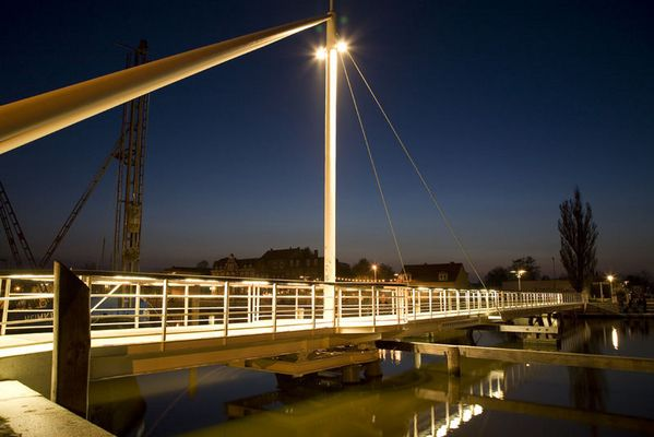 Brücke im Museumshafen Greifswald