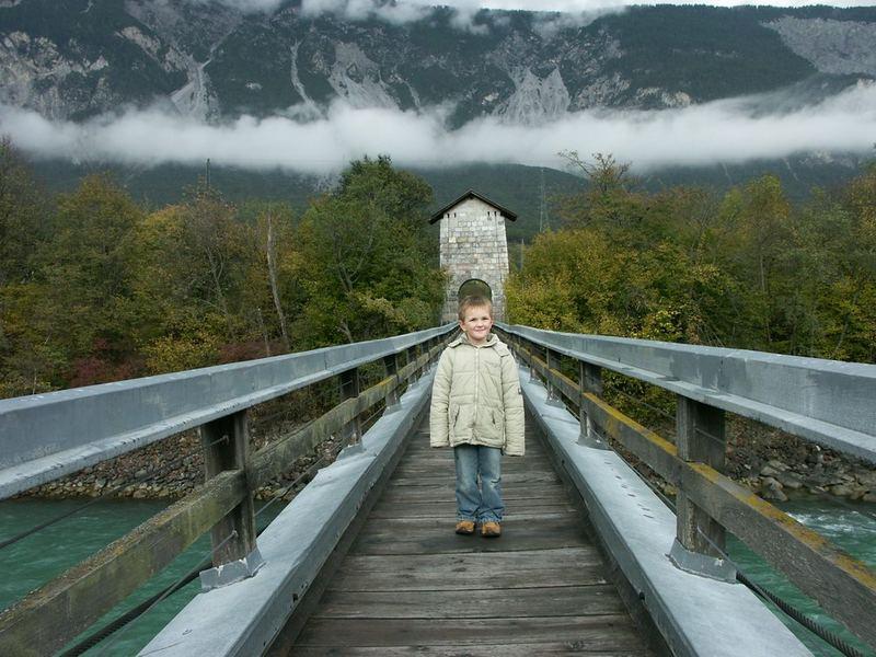Brücke im Ötztal über den Inn