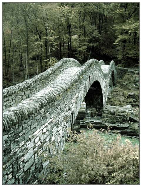Brücke im Val Verzasca [IR]