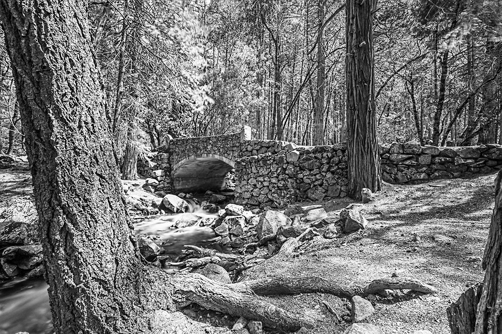 Brücke im Yosemite Park