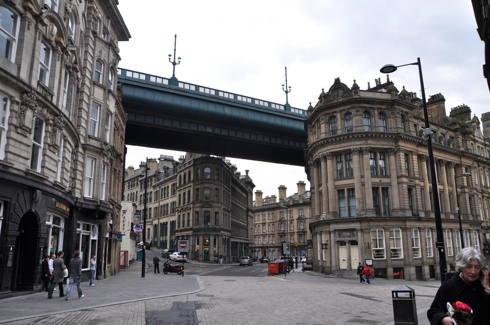 Brücke in Newcastle Downtown